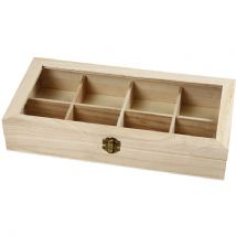 Box With Glass Lid - 8 Compartments